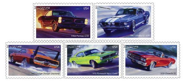 Почта Америки выпускает марки с легендарными масл-карами