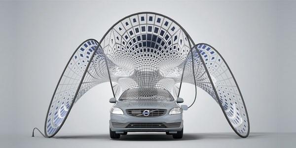 В багажник Volvo помещается целый павильон солнечной энергии