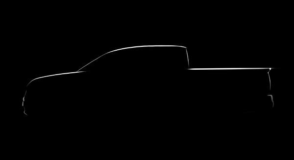 Honda показала силуэт нового пикапа Ridgeline