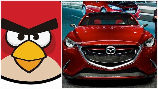Новая Mazda2 позаимствовала дизайн у Angry Birds