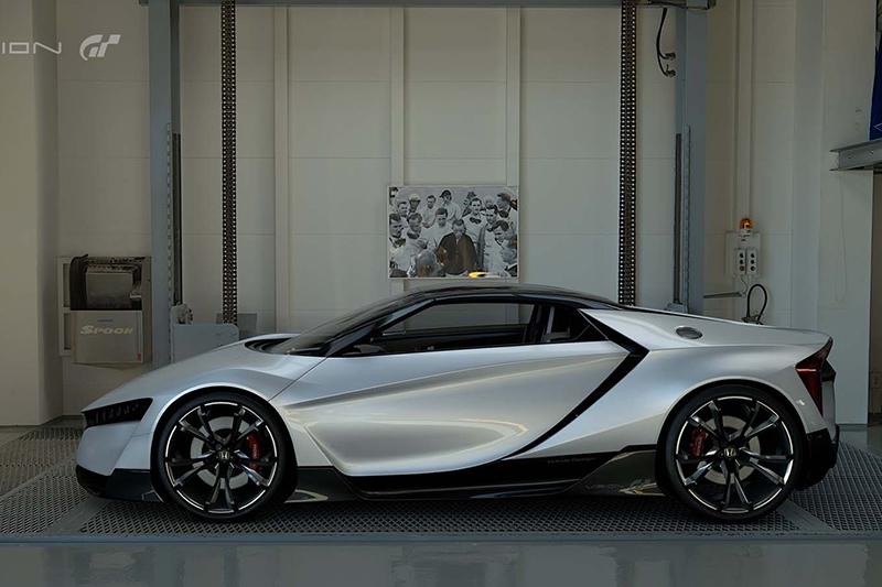 Хонда презентовала виртуальный спорткар для игры Gran Turismo